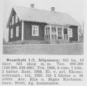 Branthult hus - Bild och text fra Sveriges Bebyggelse 1958 001