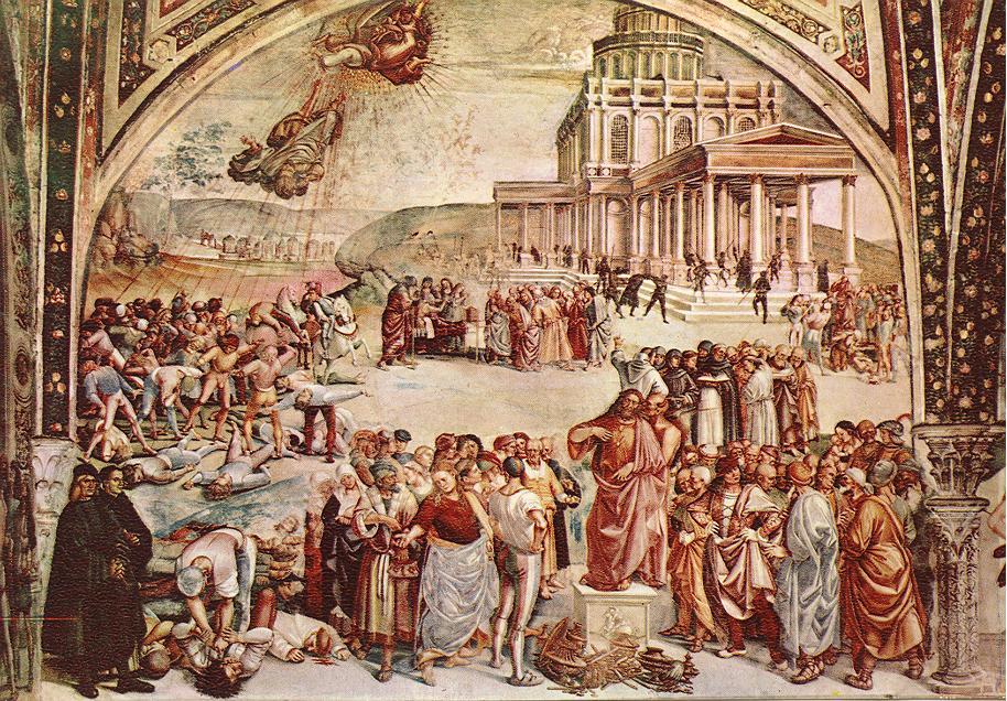 Luca_Signorelli Deeds of the Antichrist 1501