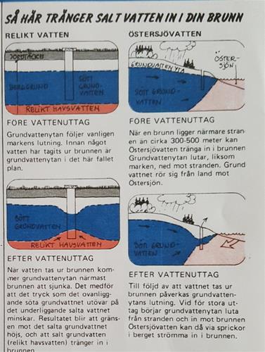 saltinträngning i sötvattenbrunn