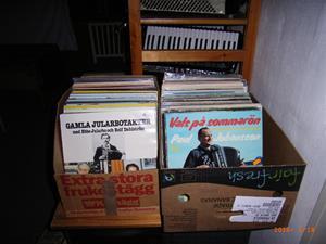 LP-skivor.Massa dragspels-lp