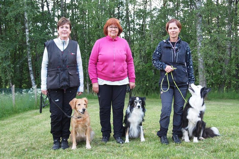 Annc-Charlott & Klara(3), Boel & Max (1) och Anne-lie Jonsson & Buster(2)