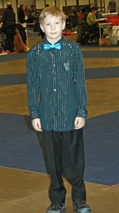 Joels första juniorhandlertävling