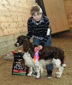Joel etta i Sätila Barn med hund