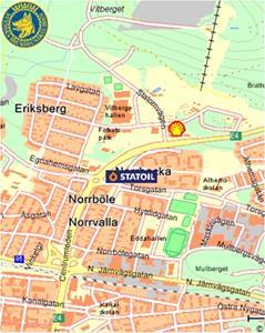 Liten kartbild och länk hitta hit