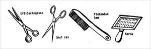 Saxar till trimning (lånad bild)