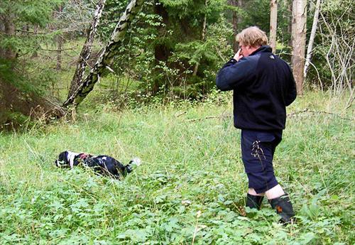 Isak och Andreas spårar på första sträckan