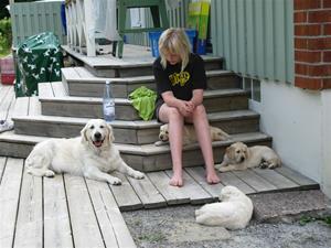 Zelda och Valparna med Matilda 2009.