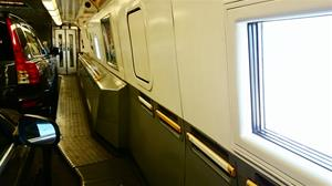 Tågkupén i Eurotunneltåget  7 mars 2015