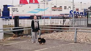 Väntar på incheckning, båten till Kiel 5 mars 2015