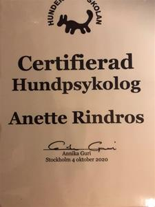 Certifikat Hundpsykolog