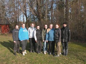 Examination SBK Instruktörer 2014-03-22. Gunnel Rikse, Linn Fröding, Maria Skoog, Christine Fürsth, Amanda Bjurström, Tina Fröding, Sara Sandberg, Emelie Hörman
