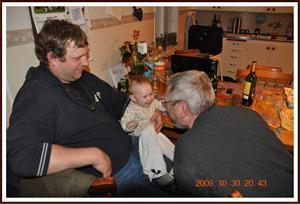 2009-10-30 Tess & Evert pratar med varandra