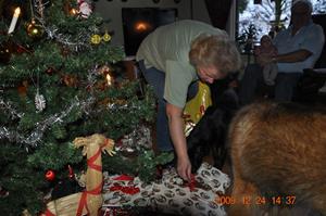 2009-12-24 Dixy kollar in julklapparna hemma hos mormor & morfar