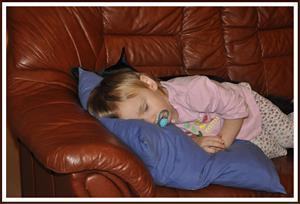 2011-01-22 Kaxa sover tillsammans med Tess
