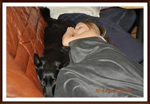 2014-03-24 Dixy & Tess sover tillsammans