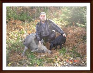2011-10-15 Dixy med sin eftersökskalv  2