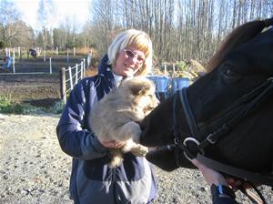 Jeg hilser på hest 30-10-2007