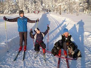 Julen 2009 i Kjekstadmarka på ski..
