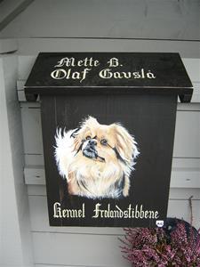 Asterix er malt på postkassa vår