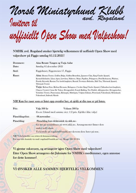 Annonse NMHK Open Show 2021