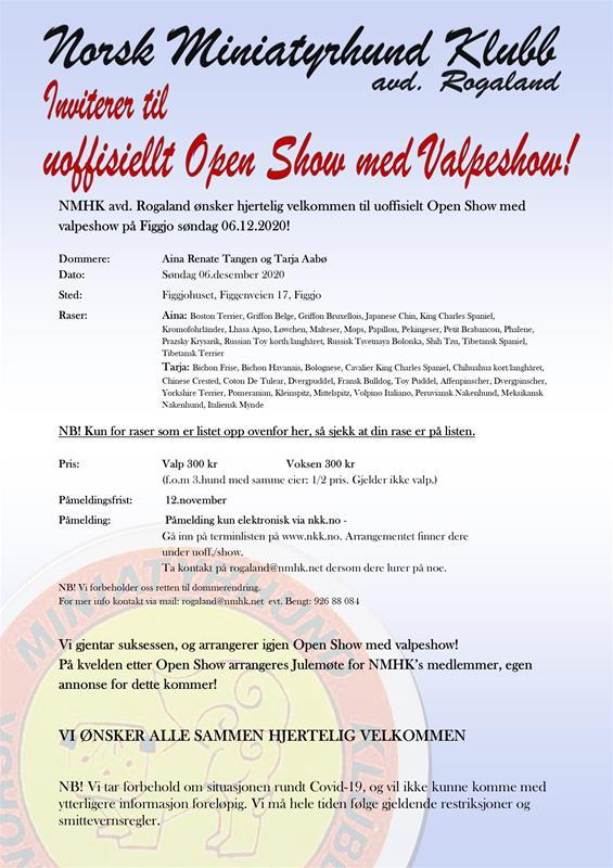 Annonse NMHK Open Show 2020