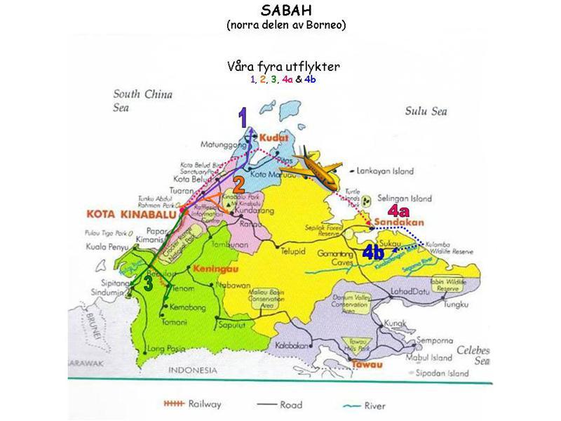 Karta över SABAH