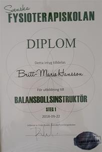 Diplom Balansboll
