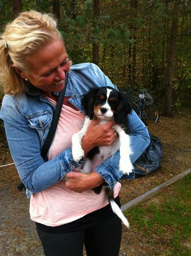 Cia-Balders Hugo med sin nya matte Malin från Falköping