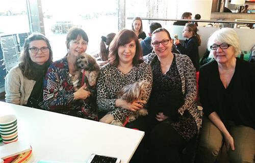 Susanne W, jag, Larisa, Birgitta och Annika