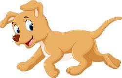 gullig-hund-för-tecknad-film-63655838