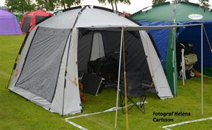 Mitt nya tält. Invigt i Vänersborg.