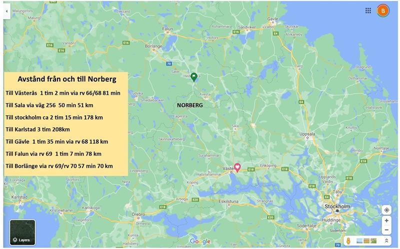 Stor Karta Klackberg Norberg 21