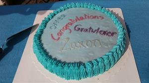 Eier av Lysti (Chamiilon`s Home Run) Heidi Seppälä har laget så flott kake til Zaxon.