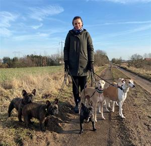 Kristina med hundar 5