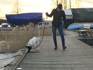 Jag och Andy i hamnen