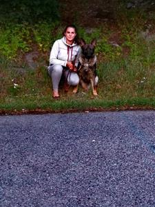 Rindrosens Access 14 månader med sin nya matte Caroline Westin