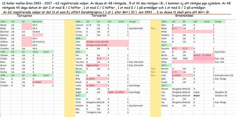 Statistik Röntgen o MH