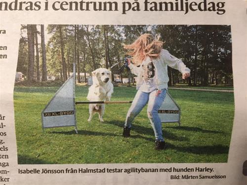 bild Hallands nyheter av familjedagen 12-9-19