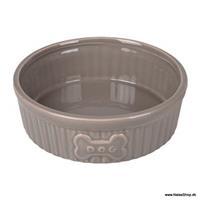 Matskål keramik, grå