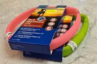 Blinkhalsband med USB-laddning, 17mm brett