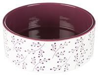 Keramikskål vit/berry