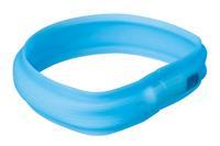 Blinkhalsband, bredd 30mm, blå